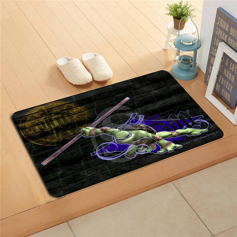 W620#4 Custom Teenage Mutant Ninja Turtles Watercolor Painting Doormat Home Decor Door m ...