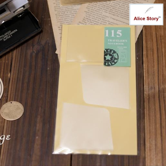 Pvc pocket stickers (card bag)  for Leather Traveler's Notebook cowhide diary spiral receive storage