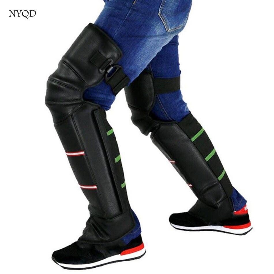2017 качество PU Водонепроницаемый Утепленная одежда зима мотоциклист наколенники защитный кожух Открытый Спорт Тактический защиты