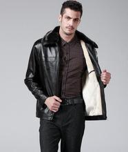 2016 jaqueta couro brown winter warm Plus velvet man pu leather jacket men male clothing mens leather jackets and coats 6XL