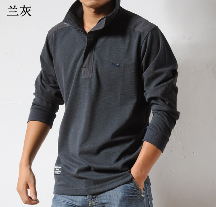 Mens long sleeve casual cotton shirts artee shirt for Full sleeves t shirts for men
