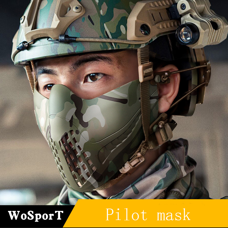 WoSporT Direct pilote masque double Mode bandeau système extérieur tactique masque de protection couleur Pure