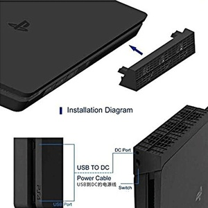 Image 2 - קונסולת אוהדים קרירים פלייסטיישן 4 Slim USB חיצוני 3 אוהדי טורבו טמפרטורת קירור USB כבל עבור PS4 Slim משחק קונסולה