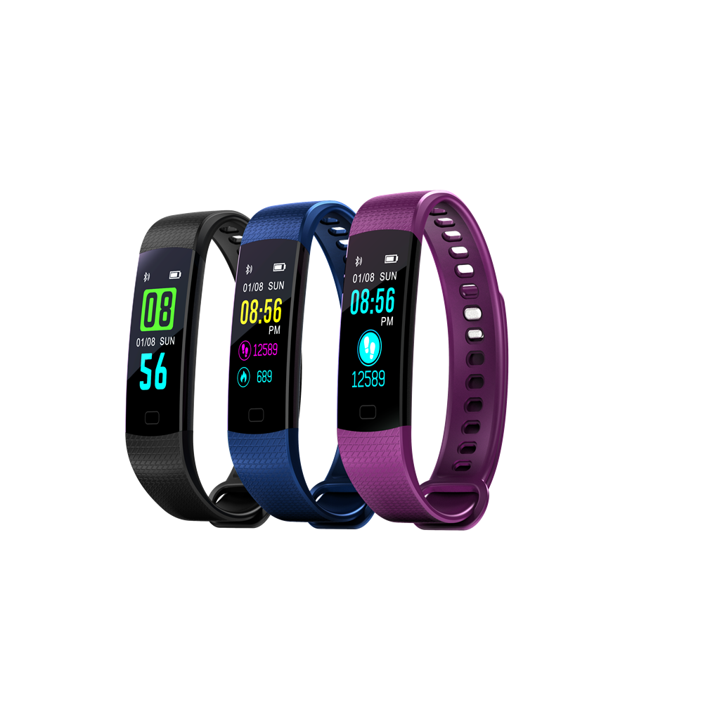 Bluetooth Smart Band Y5 Heart Rate Blood Pressure Monitor High Brightness Colorful Screen Smart Bracelet Wristband Notification