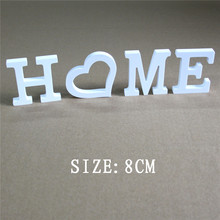 Wedding Decorations Artificial Wood Letters Alphabet White 8cm decorations romantic mariage of Birthday Party gifts