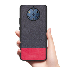 CoolDeal Case for Nokia 9 PureView X6 X7 Soft silicone edge shockproof fabric back cover
