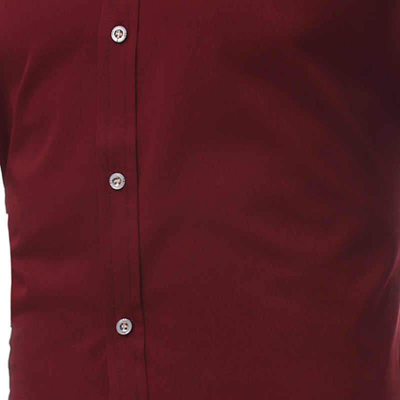 ゴールド水田刺繍タキシードシャツ男性長袖結婚シュミーズオム 2018 ブランド新スリムフィットスタンドカラーメンズドレスシャツ