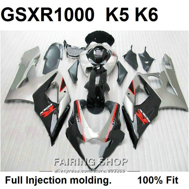 ▻Barato carenados de inyección para Suzuki GSXR1000 05 06 plata ...