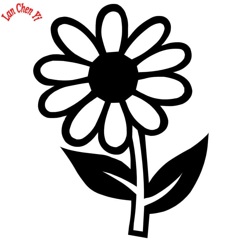 JD144 Sun flower Vinyl Decal Motorcycle Car Sticker For