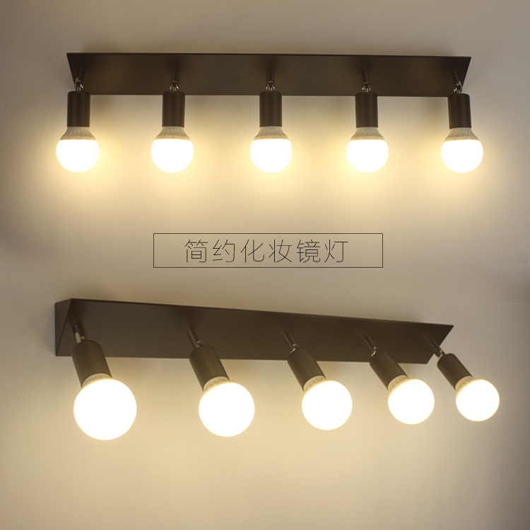 Square mirror front bracket lamp LED bathroom wall lamp bedroom resser dressing light bulb waterproof fog 3/5/6 head LU626 ZL146 dvolador luxury crystal led mirror front light 10w 15w ac110 220v bathroom waterproof anti fog led stainless steel wall light
