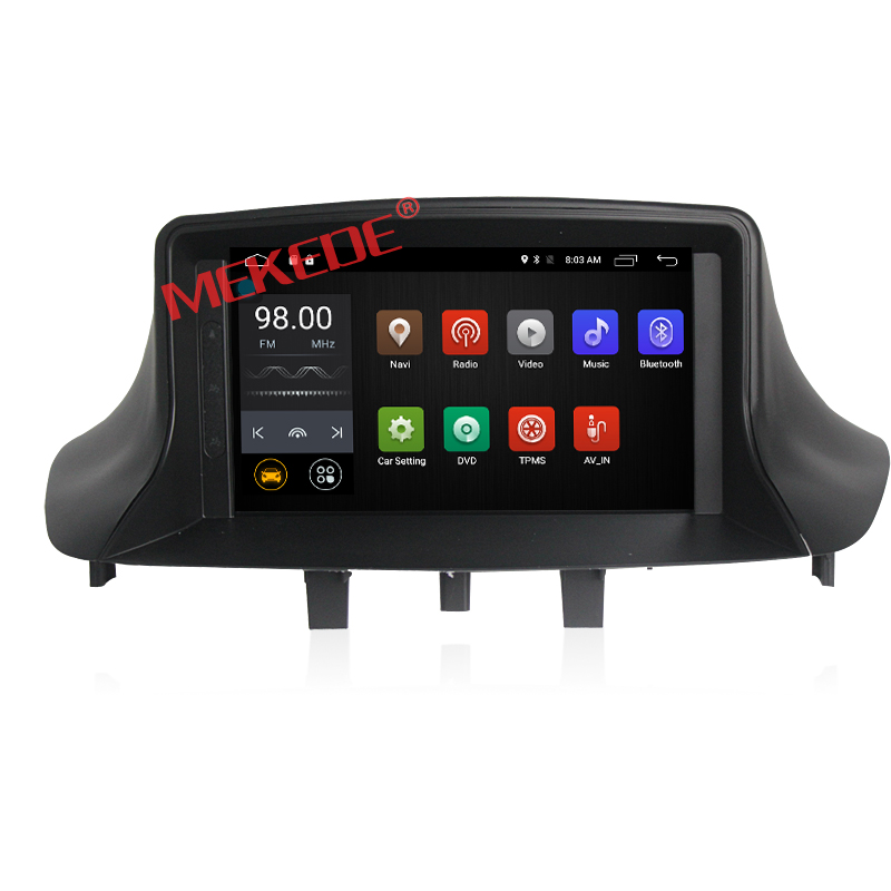 one din Android7.1 HD 1024*600 Car Audio gps navigator for RENAULT Megane3 2015 support 4G wifi ipod bt Google Store radio
