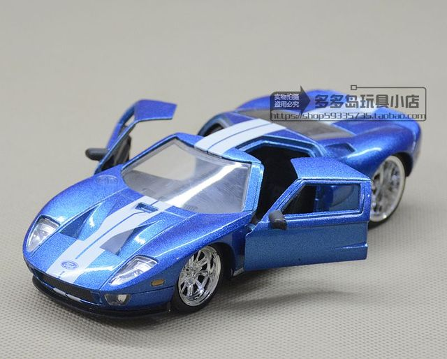Jada  Scale High Simulation Alloy Model Carblue Ford Gt