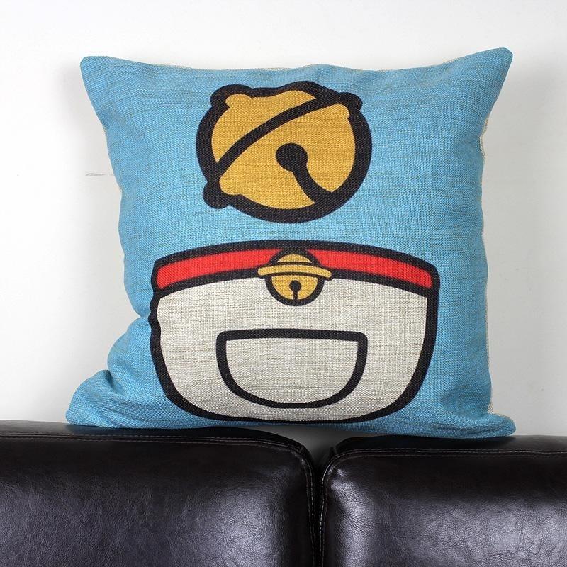 Doraemon pillow cover cute Japanese creative cartoon Animation Doraemon cat small bell throw pillow cover wholesale