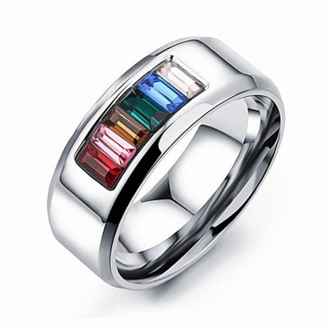 2020 NEW Europe Fashion Jewelry Ring Female Crystal From Austrian Zirconium-embedded Titanium Steel Ring For Women