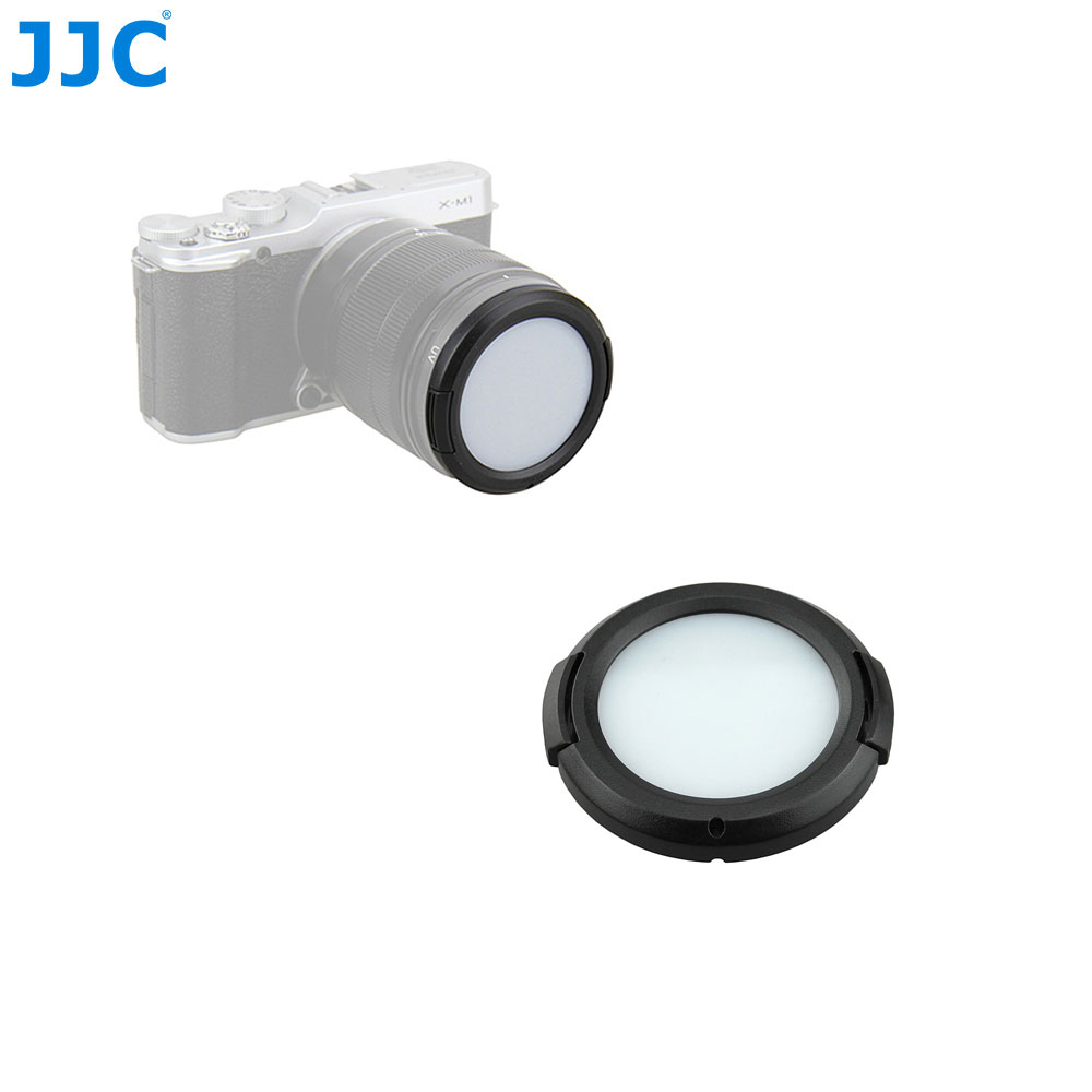 JJC Camera Lens Protective Filter Card 49/52/55/ 58/62/ 67/72/77mm White Balance Lens Cap for Sony/Nikon/Canon/Olympus/Pentax