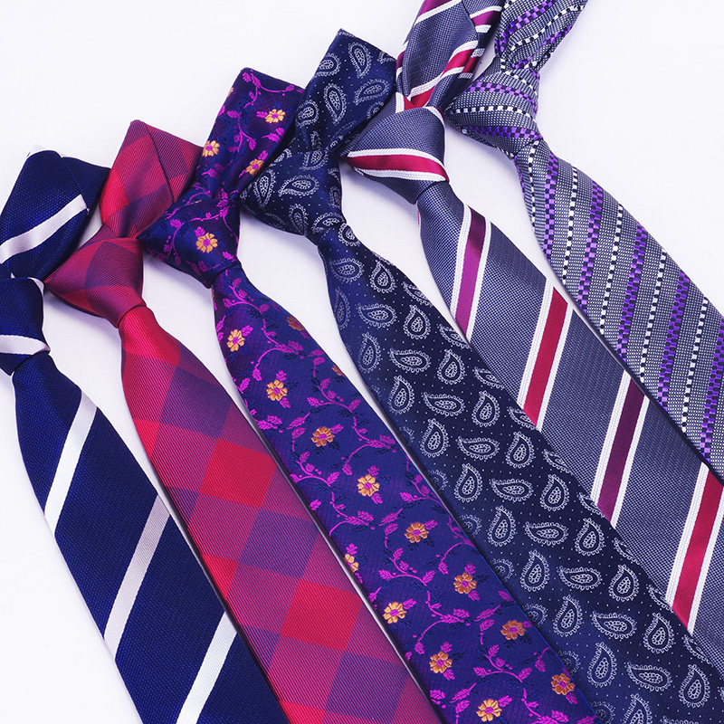 RBOCOTT Men's Slim Tie 6cm Skinny Tie Blue Floral Tie Classic Striped Plaid Paisley Tie Casual Necktie For Men Business Wedding