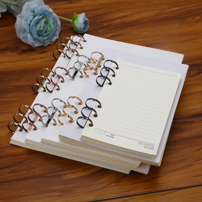 2Pcs Creative Metal Loose Leaf Book Binder Hinged Rings Scrapbook Clips Craft Photo Album Flat Ring Binder Desk Calendar Circle