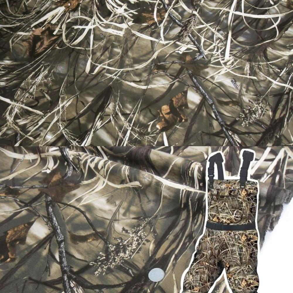 1.5 M de Largura Folhas Da Árvore Da Caça Bionic Camuflar Pano de Tecido para DIY Artesanato Ao Ar Livre Esconder Tampa Cega