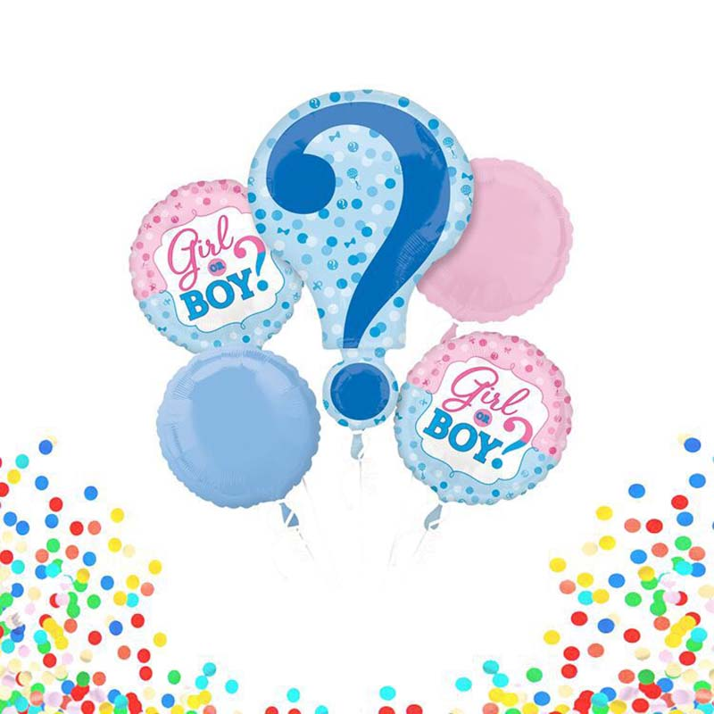 5 Pcs/lot Pink blue New symbol question mark balloon baby Gender Reveal party decoration decorative inflatable Birthday balloons