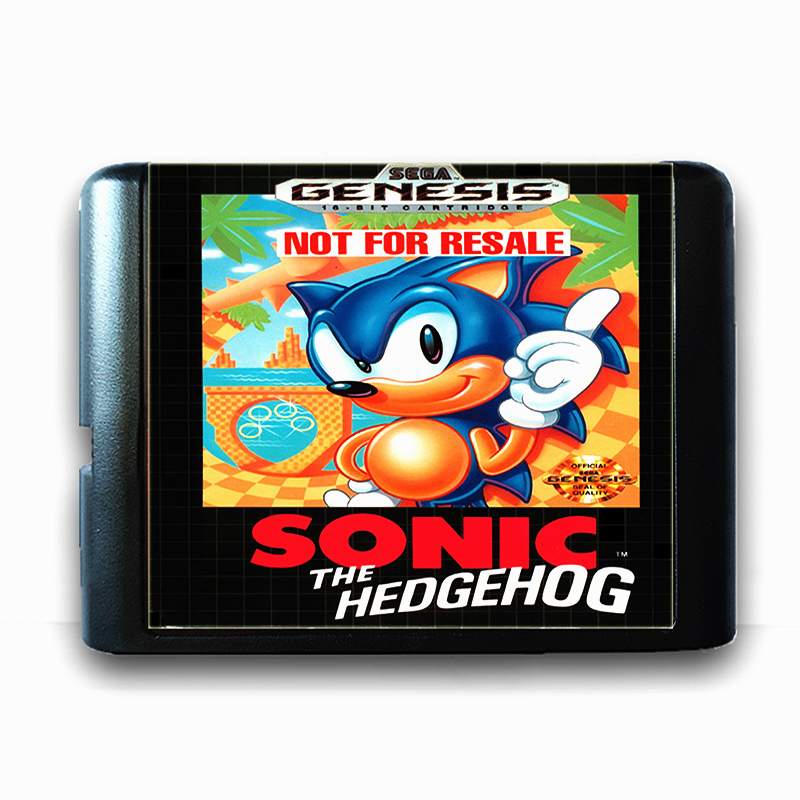 Sonic the Hedgehog 16 bit Sega MD Game Card for Mega Drive for Genesis