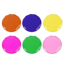 Round Shape Glue Pallet Lash Holder Glass Pad Eyelashes Extension Tool Lashes Pallet 6 Colors Make Up Tools #11(China)
