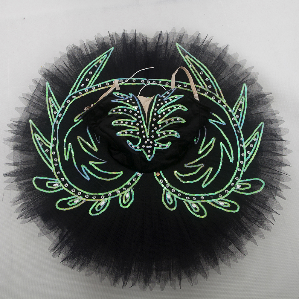 Customer size made black spandex bodice professional ballet tutu girl & women tutu balleria dance costume tutu