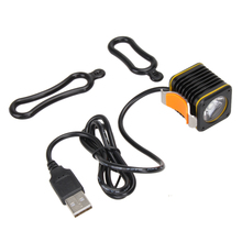 Mini USB Square XM-L T6 4 Modes LED Front Bike Bicycle Light Headlight with PUSH button Bright Waterproof Bicycle Front Light
