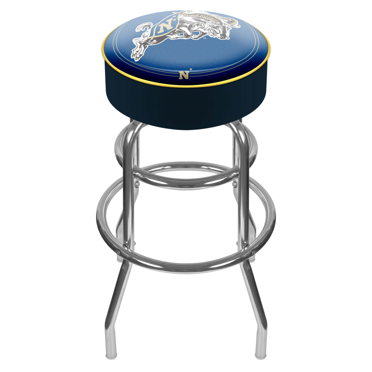 United States Naval Academy Padded Swivel Bar Stool 30 Inches High ...
