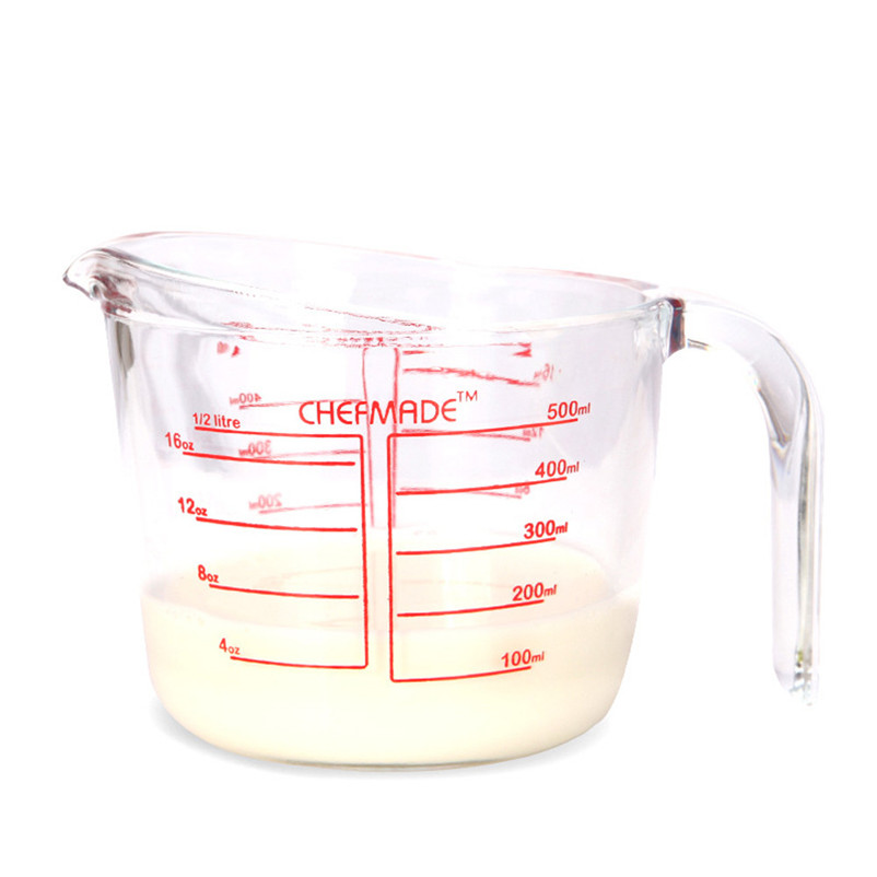 Scale Cup 500ml Glass Measuring Cup Durable Liquid