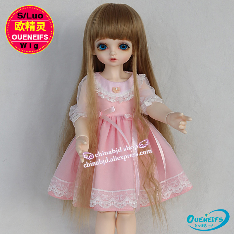 Oueneifs size 9-10 inch 1/3 high-temperature wig girl long hair bjd sd doll Wigs in beauty and health with bangs oueneifs bjd wig 1 3 high temperature wig boy man short hair with bangs fashion type stylish hair have not doll size 9 10 inch