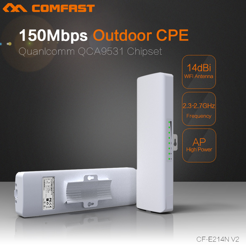 4pcs Wireless Outdoor Long Range CPE,150Mbs,11n,2.4GHz WIFI Signal Booster & Amplifier Outdoor Coverage 2KM COMFAST CF-E214N-V2 mbs ruta 150 white