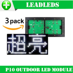(3 pieces/lot) 320*160mm White Outdoor high brightness P10 LED module for Single color LED display Scrolling message led sign