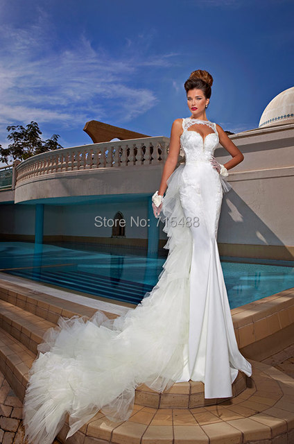 Dimitrius Dalia Detachable Train Mermaid White Indonesia Bridal Gown Ebay China Custom Made Alibaba Lace