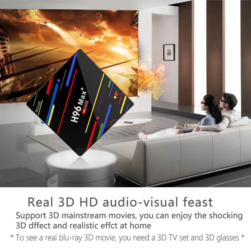 Hot 4 GB + 64 GB USB3.0 Quad Core Smart TV décodeur 2.4G/5G WiFi pour Android 8.1