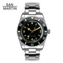 Сан Мартин для мужчин Винтаж часы автоматический Дайвинг часы нержавеющая сталь часы 200 м водостойкий Швейцарский ETA 2824_2 двигаться для мужчин t