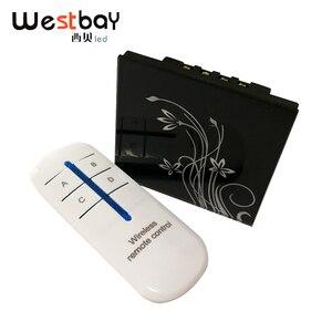 Westbay сенсорный выключатель 3 банды 2 пути черный цвет настенный выключатель с дистанционным управлением закаленное стекло светильник перек...