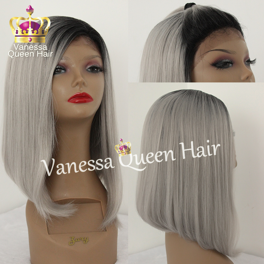 Short Blonde Ombre Wig 60