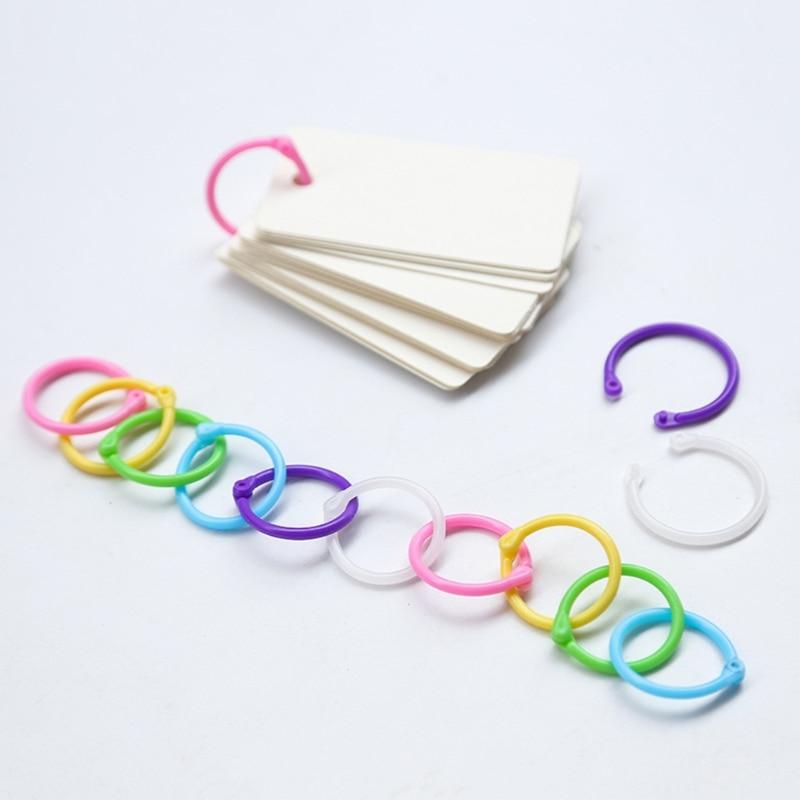 High Quality Binder Ring Creative Plastic Multifunction Circle DIY Album Loose Leaf Book Binder Hoop Ring 10166