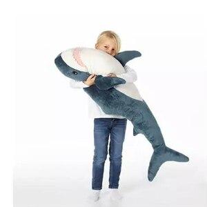 Image 2 - 60 سنتيمتر/80 سنتيمتر لطيف القرش ألعاب من القطيفة دمية محشوة الاطفال ألعاب أطفال الأولاد وسادة الفتيات الحيوان مخدة قراءة لهدايا عيد
