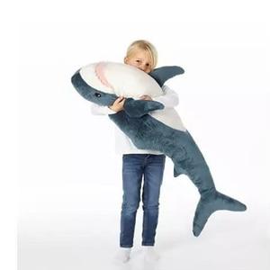 Image 2 - 60cm/80cm śliczne rekin pluszowe zabawki wypchana zabawka dla dzieci zabawki dla dzieci chłopcy poduszka dziewczyny zwierząt poduszka do czytania na urodziny prezenty