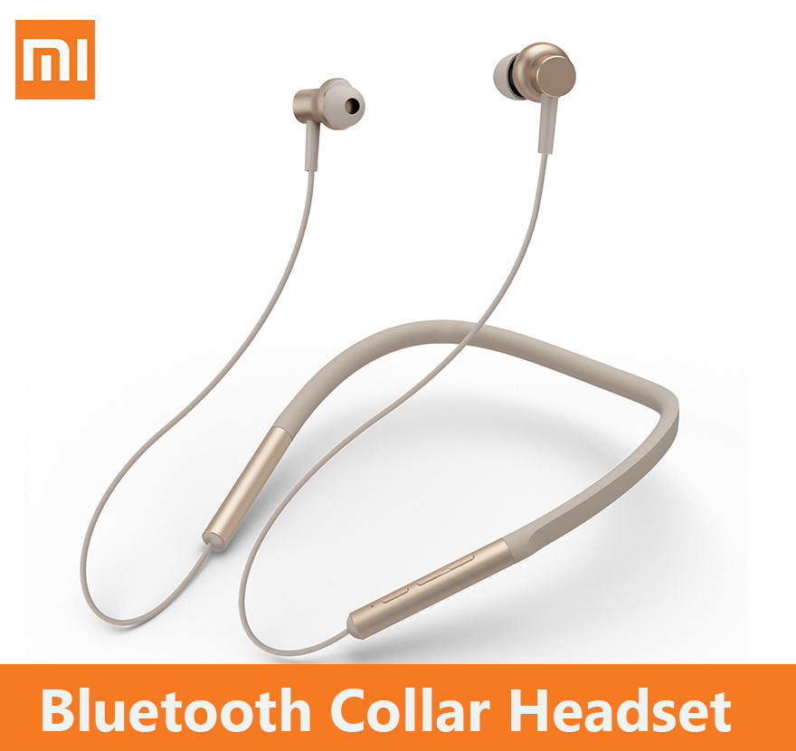 Xiaomi Bluetooth neckband headphones Collar Headset wireless Sport earbuds mic music Magnetic stylish fashion phone Earphones