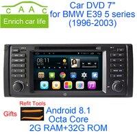 Android Quad Core GPS Навигации 7 Автомобиля DVD Магнитолу для BMW E39 5 Серии/M5 1997 2003 с BT/RDS/Радио/МЖК/USB/SD/3 Г/WIFI/Canbus