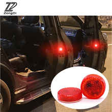 ZD светодиодный Двери Автомобиля светильник Строб Предупреждение светильник для hyundai Tucson Solaris ix35 i30 Suzuki Swift Mitsubish ASX аксессуары