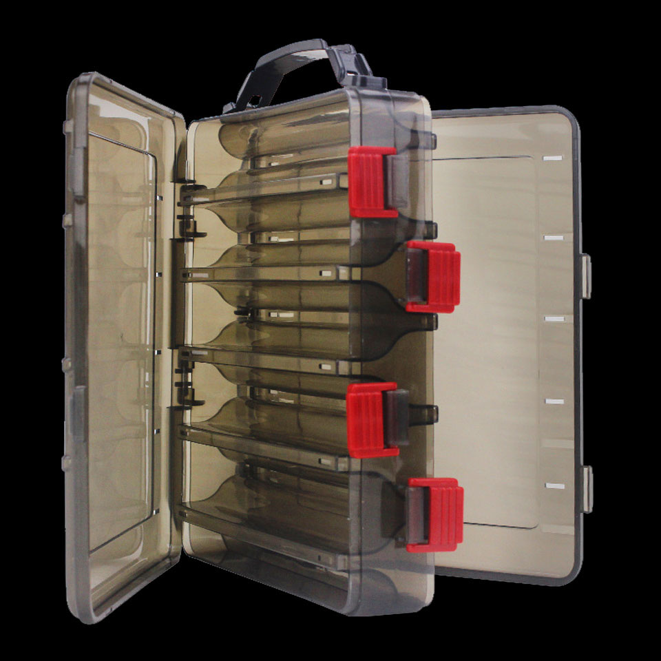 Anzuelo Pesca señuelo caja doble cara aparejos caja Pesca señuelo calamar Jig Pesca accesorios caja Minnows cebo Pesca aparejos