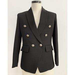 Image 3 - Мужской классический двубортный пиджак с металлическими кнопками в форме льва, дизайнерский подиумный пиджак, верхняя одежда, 2020
