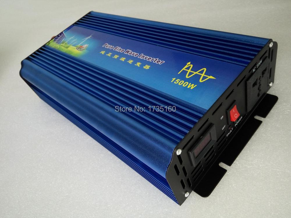 цена на 3000W Peak Power 1500W Pure Sine Wave Inverter dc input 12/24/48V to ac output 120/230VAC Power Inverter true sine wave