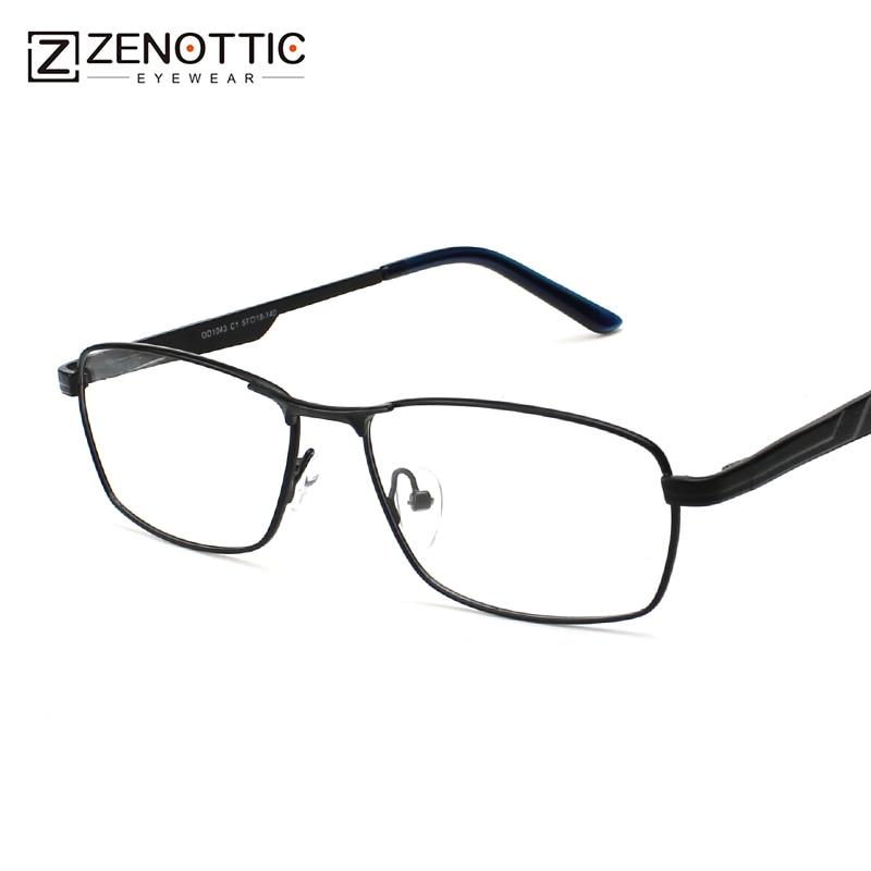 fc4402d0d Comprar Olho Óculos de Armação de Metal Homens Espetáculo Óptico Quadro de  Moda Masculina Óculos de Aro Cheio de Marca Designer De Óculos de  Prescrição ...