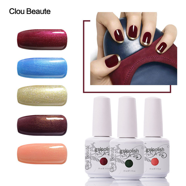 Clou Beaute Fluorescent Color UV LED Nail Polish Nail Nude
