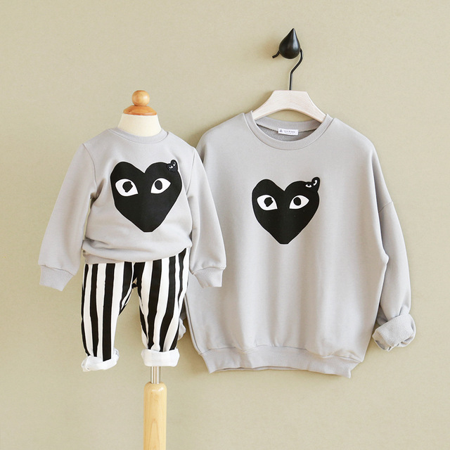 1pcs Spring Autumn Family style T-shirt Cute cartoon family matching clothes outfits Soft Matching mother daughter clothes
