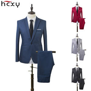 HCXY Business Coat Groom's Wedding Blazer Pants Men's Suits